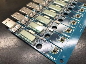 挿入実装後の「LS350-TH」表面