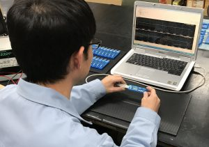 検査工程_小型温湿度 データロガー LS350-TH」