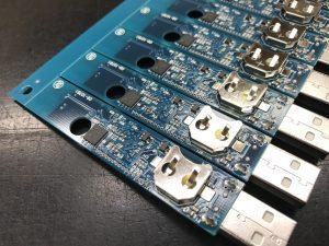 挿入実装後の「LS350-TH」裏面