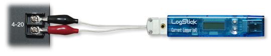 電流ロガー LS200-Aの接続例