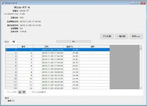 温度データロガー LS450-T(T)_ダウンロードデータ一覧