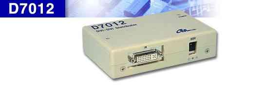 DVI 1入力 2出力 分配器 D7012