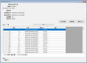 温度データロガー LS340-T_一覧